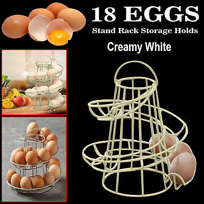 Helter Skelter Spiral Egg Holder Storage Kitchen Stand Rack Holds Up To 18 Eggs