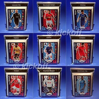 Match Attax 2016-2017: Full team Base sets 19 cards Inc Foils and Away Kit 16-17