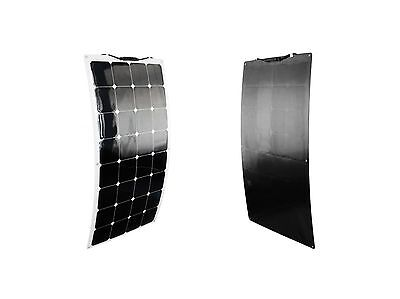 Flexibles Solarmodul Solarpanel Flexible 100W 12V Volt Mono Backcontact schwarz