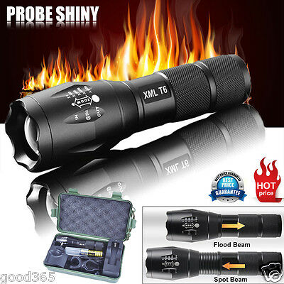 G700 X800 Tactical 5000LM Zoom XML T6 LED Military Flashlight Torches Light Lamp