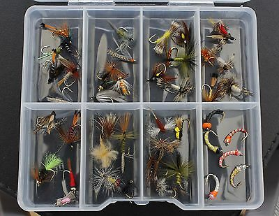 Fishing Gift idea Trout Flies Dry Wet Nymph Buzzers Hooks 10 12 OR 14 + FREE BOX
