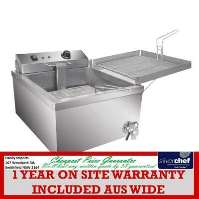 Fed Commercial Benchtop Electric Donut Fryer Bench Counter Top 12L & Tap Ef-T