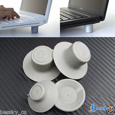 Cheap! 4pcs Notebook Accessory Laptop Heat Reduction Pad Cooling Feet Holder