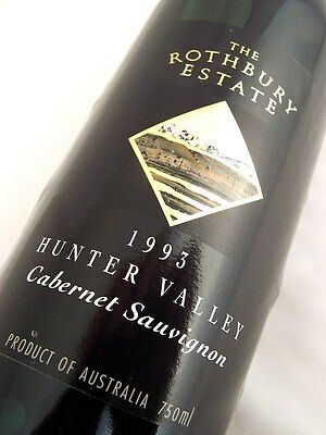 1993 ROTHBURY ESTATE Hunter Valley Cabernet Sauvignon Isle of Wine