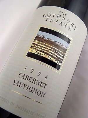 1994 ROTHBURY ESTATE Cabernet Sauvignon Isle of Wine