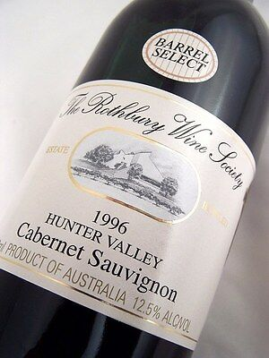 1996 ROTHBURY ESTATE Barrell Select Cabernet Sauvignon B Isle of Wine