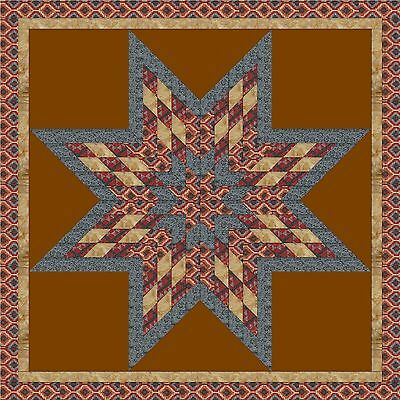 POWWOW FESTIVAL STAR QUILT TOP - Not Quilted-Machine Pieced, Made in the USA!