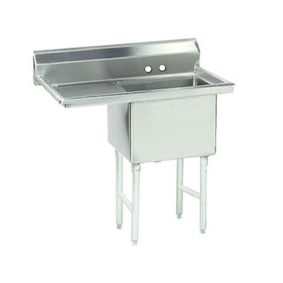 "Advance Tabco FC-1-1824-24L 18"" Fabricated NSF Econom Sink"