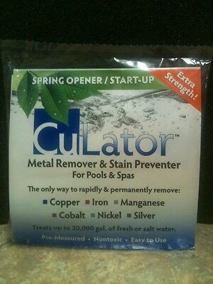 CuLator Spring Opener Powerpak Metal Remover & Stain Preventer For Pools & Spas