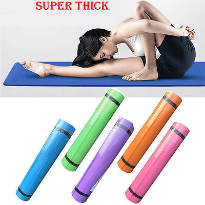 4/5/6Mm Yoga Mat Exercise Fitness Aerobic Gym Pilates Camping Non Slip Thick
