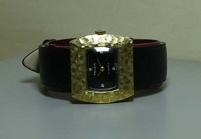 Vintage Ladies Felca Winding Gold Plated Swiss Made R112 WRIST WATCH Old Used