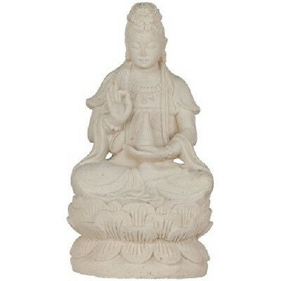 "Large Kwan Yin Indoor Outdoor Statue Sculpture Volcanic Stone Figure 13"" Tall"