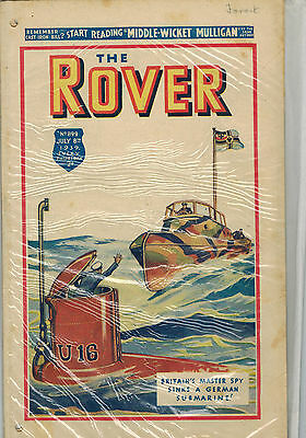ROVER COMIC No. 899 from 1939 - D. C. Thomson U-BOAT COVER!