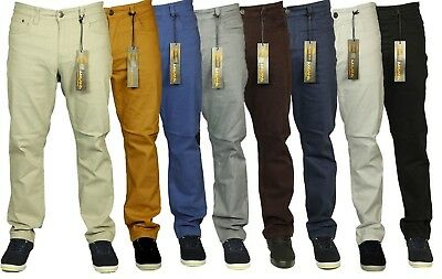 Mens Latest King Size Kam Stretch Chino Jeans Straight Leg 7 Colours Size 42-60
