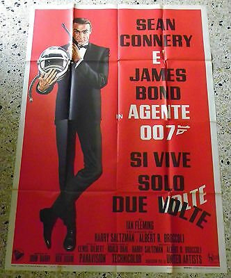 Manifesto Originale 007 Si Vive Solo Due Volte Sean Connery James Bond O6 4F