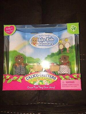 NIB Calico Critters Zach and Sandy's Bike Ride Adventure Playset #CC2286