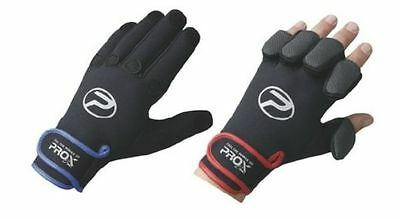 Guanti Da Pesca In Neoprene Px5922 Prox Blue Gloves Spinning Dita A Scomparsa