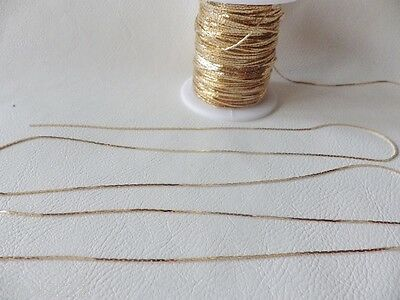 2 metres x GOLD Plated FINE Crimp / Snake Chain BNChain07