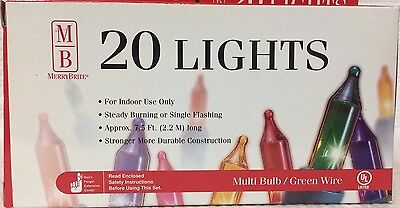 Lot Of 8 Boxes Of 20 Count Multicolored Lights ~ Christmas Lights ~ Holidays