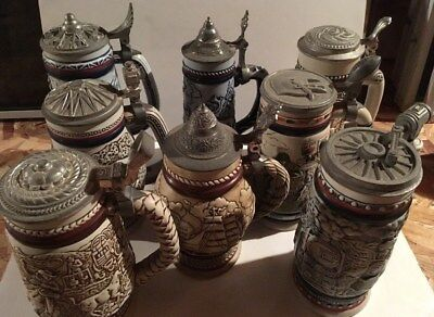 Avon Beer Stein Collection 1976-1983 (Lot of 8)