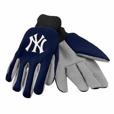 NY NEW York Yankees Gloves Sports Logo Utility Work Garden NEW Colored Palm