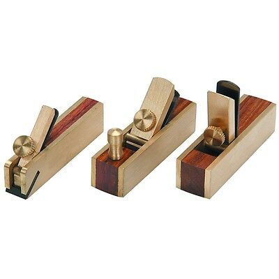 Mini Brass Plane Set 3pc Micro Block Plane,Wood Working Craft Planar Tool