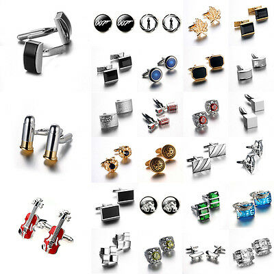 Popular Colorful Stainless Steel Mens Wedding Party Shirt Cuff Links Cufflinks