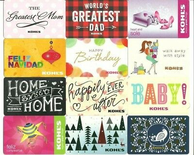 Lot (12) Kohl's Gift Cards No $ Value Collectible Mom (2) Spanish Language Kohls