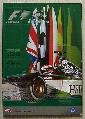 BRITISH GRAND PRIX SILVERSTONE 2000 FORMULA ONE F1 Official Race Programme