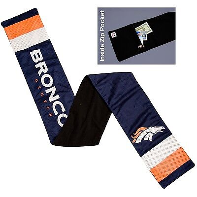 Denver Broncos Jersey Material Neck Scarf NEW - Lined with fleece