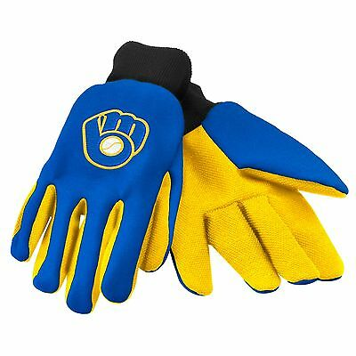 Milwaukee Brewers Gloves Sports Retro Logo Utility Work Garden NEW Colored Palm