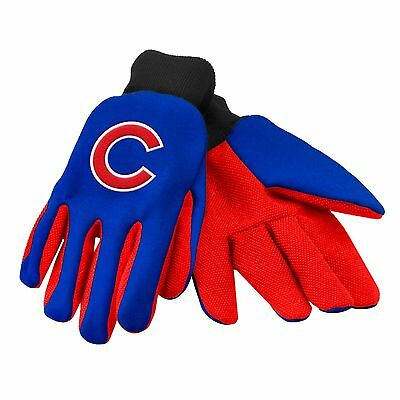 Chicago Cubs Gloves Sports Logo Utility Work Garden NEW Colored Palm
