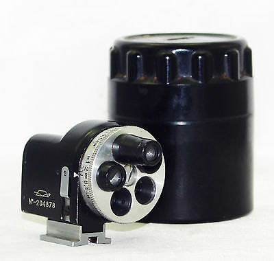 Turret Viewfinder Universal Revolver for Zorki FED Leica USSR Russian Box GOOD