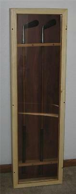 Custom Wood Display With 2 Vintage Majestic Hickory Golf Clubs Mashie & 5 Iron