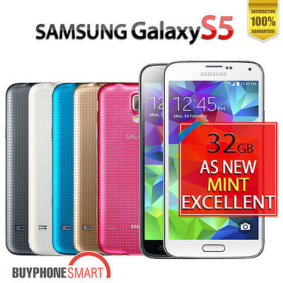 Samsung Galaxy S5 4G Smartphone 32GB Unlocked in AsNew Mint Excellent Condition