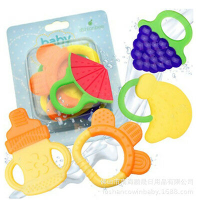 Safety Baby Toddler Teether Chew Toy Molar Rod Silicone Soft&Safe Teeth Stick