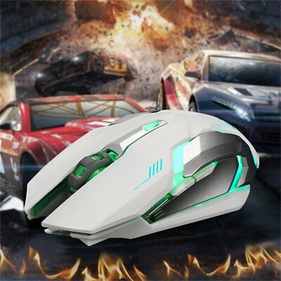 2.4 GHz Wireless Optical Mouse Mice + USB 2.0 Receiver for PC Laptop Black T##