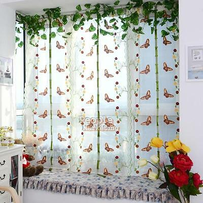 P4PM Light Filtering Fabric Fold Roman Shade Butterfly Printed Window Treatme