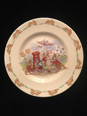 """Royal Doulton Bunnykins Mail Delivery 6 1/2"""" Dessert Plate"""