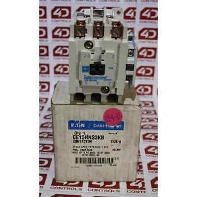 Cutler-Hammer CE15HNS3KB 3 Pole open type contactor 240V Coil. - New Surplus ...