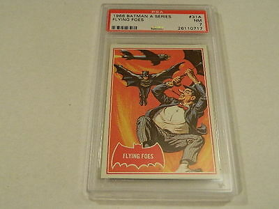"1966 Topps BATMAN (A Series) Red Bat #31A ""Flying Foes"" - PSA 7 NM"