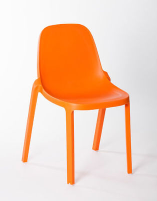Replica Outdoor Stackable Restaurant Bar Cafe Dining Chair Broom Orange