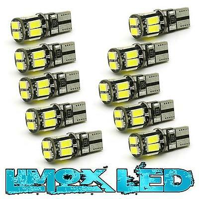 10x Canbus T10 W5W LED Canbus Xenon Weiß Autobirne Glassockel Lampe 10x 5630 SMD