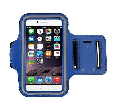 Blue Armband for iPhone 7 Plus + Gym Exercise Running Sports Phone Case Cover