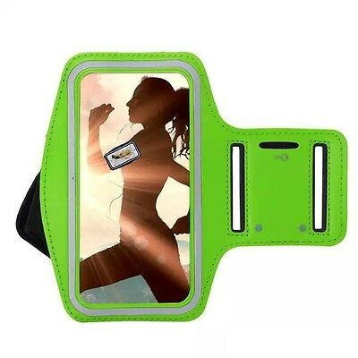 Green Armband for iPhone 7 Plus + Gym Exercise Running Sports Phone Case Cover
