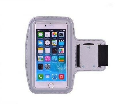 Silver Armband for iPhone 7 Plus + Gym Exercise Sports Running Phone Case Cover