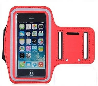 Red Armband for iPhone 7 Plus + Gym Exercise Sports Running Phone Case Cover
