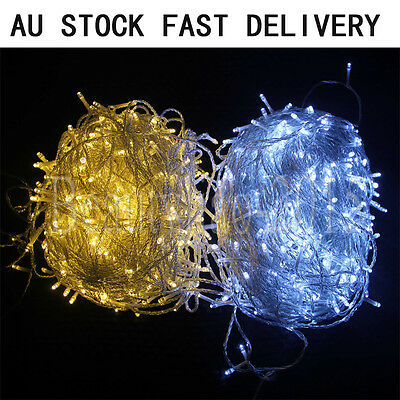 250/500 LED Fairy String Lights Christmas Tree Xmas Party Wedding Indoor/Outdoor
