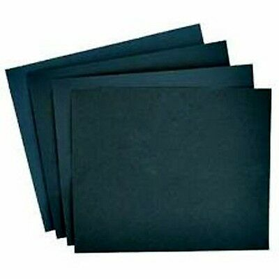 "10pc Glass Grit Sand Paper fine meduim & coarse 9"" x 11"" wet and dry waterproof"