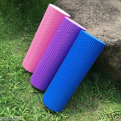 45x15cm EVA Yoga Pilates Massage Fitness Gym Trigger Point Exercise Foam Roller